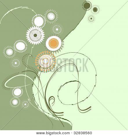 Stylized Image Of Wild Flowers
