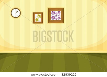 Illustration of frames on a blank wall