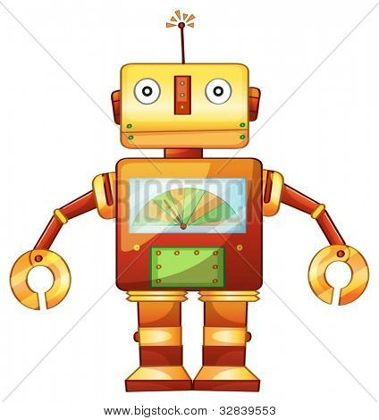 Illustration of a retro robot