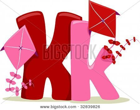 Illustration Featuring the Letter K