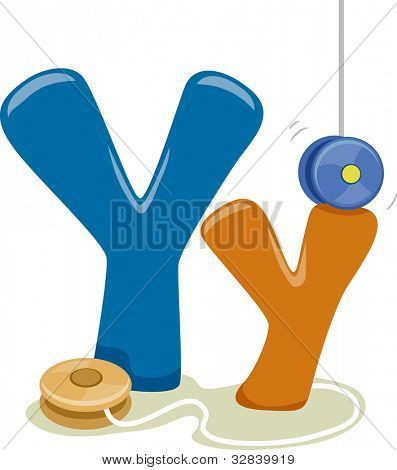 Illustration Featuring the Letter Y