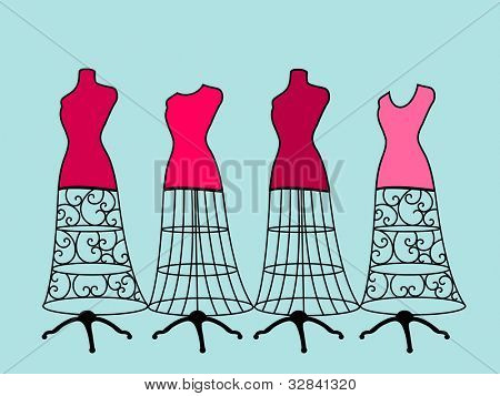 Long dress bodyforms four choices