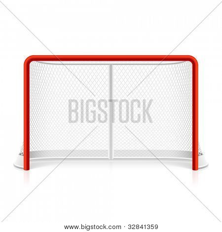 Ice hockey net. Vector.