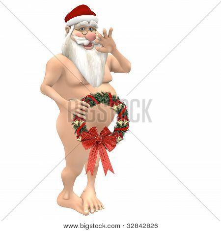 Santa Wreath Coverup