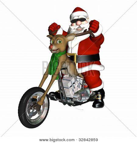 Picador de concepto de Reno de Santa