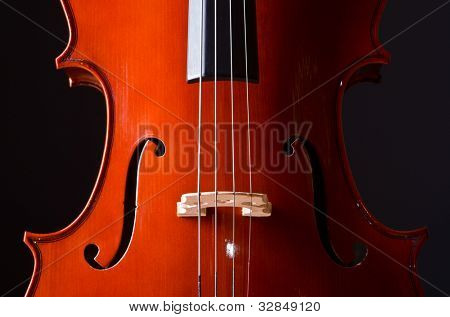 Music Cello in the dark room