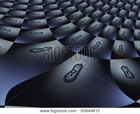 Eye in computer mouse watches