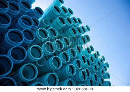 Tubo de Pvc azul