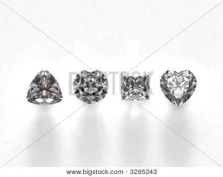 Diamonds On White