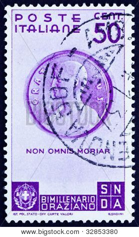 Postage stamp Italy 1936 Bust of Horace