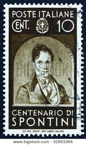 Postage stamp Italy 1937 Gaspare Spontini, Opera Composer