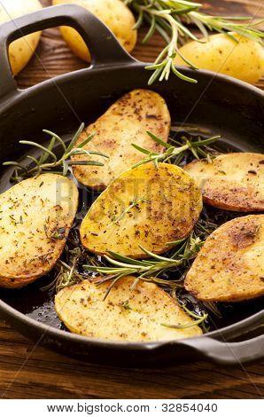rosted patatas al Romero