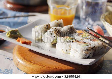 Sushi - California rolls