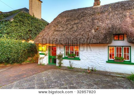 Traditional irish cottage house image photo bigstock for Traditional irish cottage designs