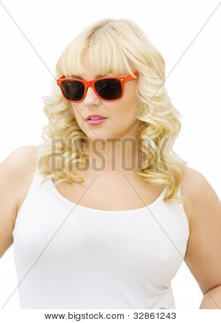 Summer Fun - Woman Wearing Sunglasses
