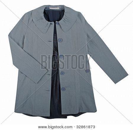 gray coat isolated on white