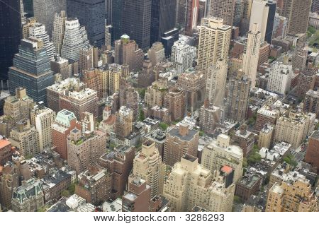 Aerial View Of Nyc Center, Usa