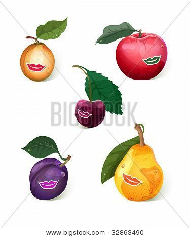 Smiling Fruits Set