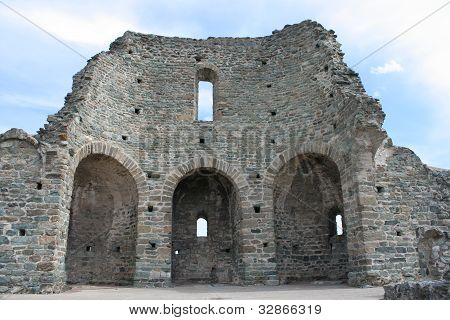 Ruins of an old Roman Church