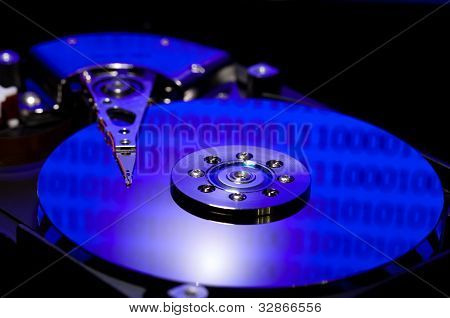 Hard Disk Drive With Binary Reflected Data
