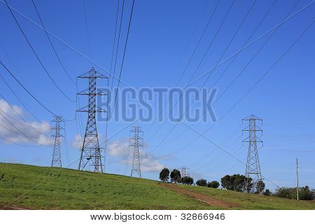 Power Lines And High Voltage Towers