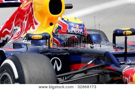 F1 driver Mark Webber