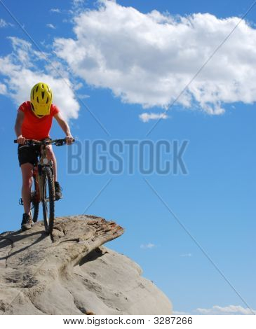 Biker Atop The Mountain