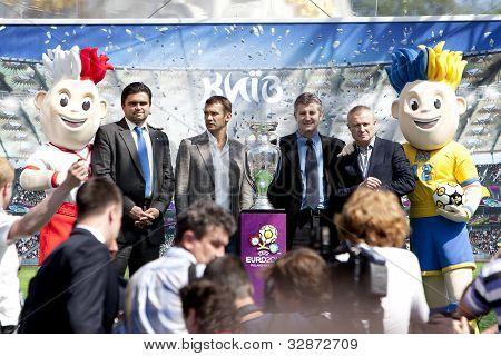 Kiev, Ukraine May 11. 2012: The Uefa Cup Is Coming To Kiev.