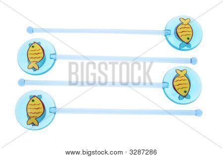 Fish Swizzle Sticks