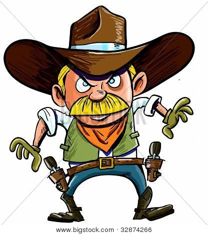 Cute cartoon Cowboy