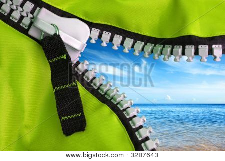 Green Zipper