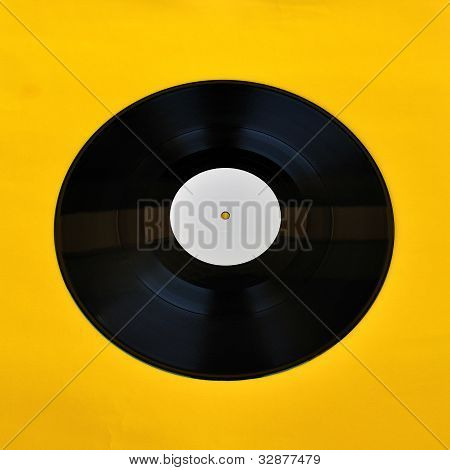 Vinyl Record White Label Promo