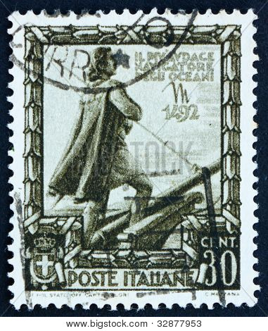 Postage stamp Italy 1938 Christopher Columbus, Explorer