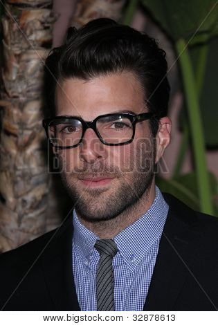 LOS ANGELES - DEC 01:  Zachary Quinto arrives to the Beat The Odds Award 2011  on December 01, 2011 in.Beverly Hills, CA.
