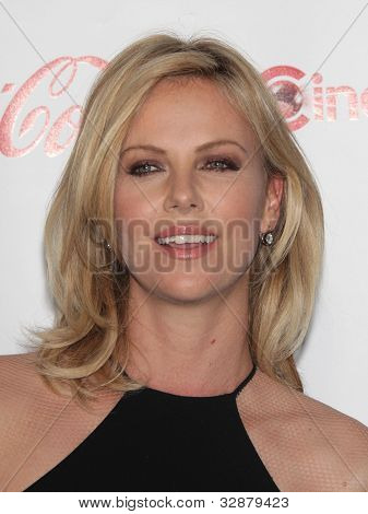 LAS VEGAS - APR 26:  CHARLIZE THERON arrives afor the Cinema Con 2012-Final Night Awards  on April 26, 2012 in Las Vegas, NV