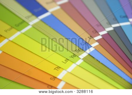 Many Bright Colored Paint Spec Swatches