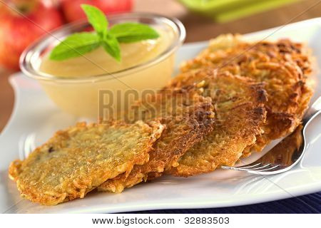Apple Sauce with Potato Fritters
