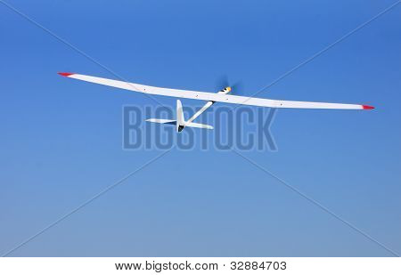 Rc Glider Flying In The Blue Sky