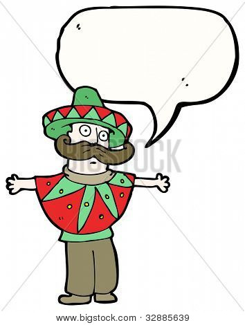 mexican costume man cartoon