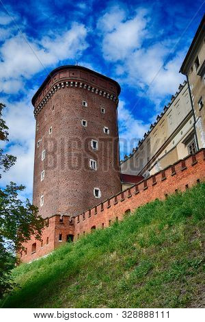 poster of Beautiful Historical Historic Polish Royal Castle Wawel On A Warm Summer Day
