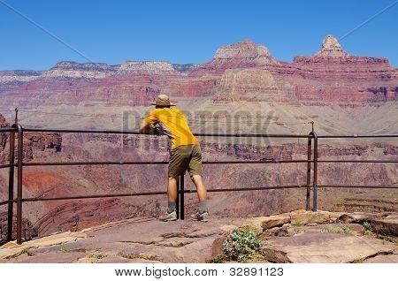 Man On Plateau Point Overlook