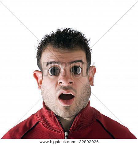 Homem de olhos de louco