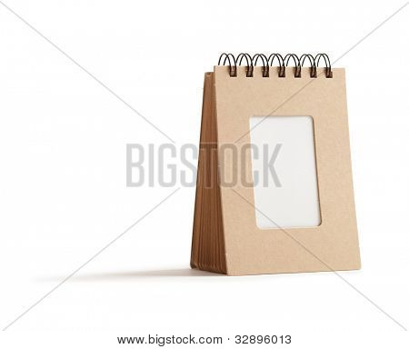 Small message board type memo pad, isolated on white with natural shadow.