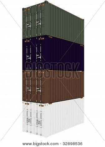 Cargo Containers Isolated on white background