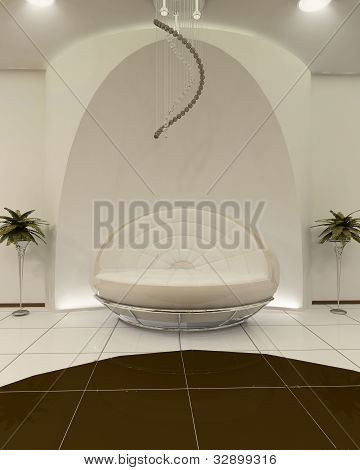 Stylish Sofa With Construction In Interior