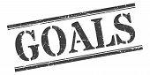 Goals Stamp. Goals Square Grunge Sign. Goals poster
