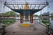 At Seema Malaka Temple In Colombo, Sri Lanka. The Center Of Colombo With The Lake, Sri Lanka. poster