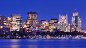Skyline of landmark high rises in Back Bay, Boston, Massachusetts poster