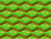 Soil Layers Vector Isometric Pattern. Platforms Of Different Textures Of Soil. Game Design Ground Ti poster