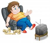 pic of fat-guts  - Illustration of a fat and unhealthy man - JPG